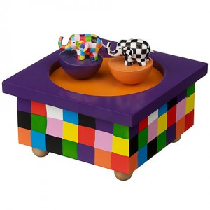 Elmer music box, suitable for 3 years up or as a gift to keep. Picture from John Lewis