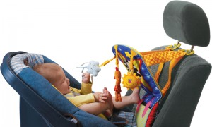 Taf Toys toe time infant car seat toy will provide a great distraction for your baby. Picture from Binxie.com