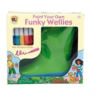 Kids can make a unique pair of wellies this christmas! Picture from Ebay.