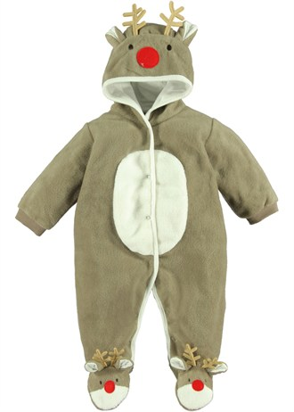Reindeer fleece onesie, just one of the range from Matalan.