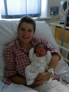 Alice and Amelia in hospital