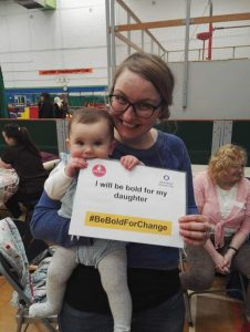 A mum at our Women in Bloom event 2017