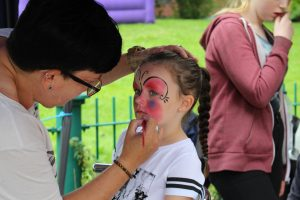 Facepainting at our Olympic Day, 2016